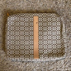 "15"" Coach laptop case 9.00"